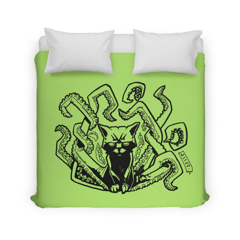 Catthulhu (Uncolored) Home Duvet by