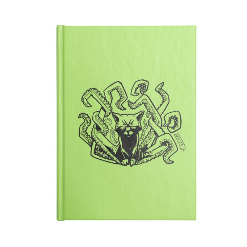 Catthulhu (Uncolored) Accessories Lined Journal Notebook by