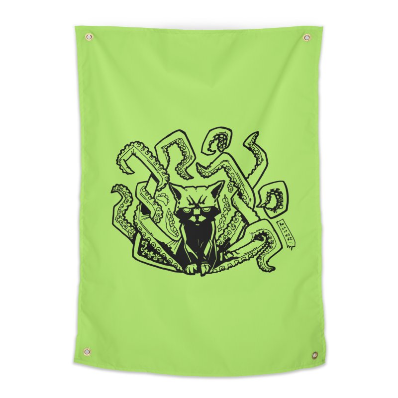 Catthulhu (Uncolored) Home Tapestry by