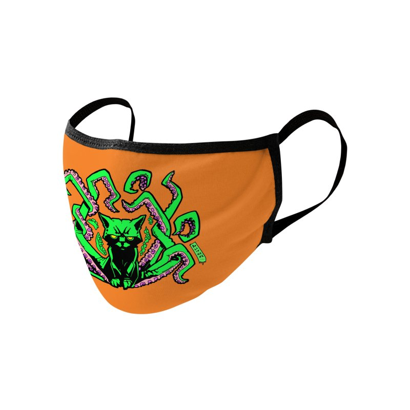 All-New Catthulhu, Now With Orange Accessories Face Mask by
