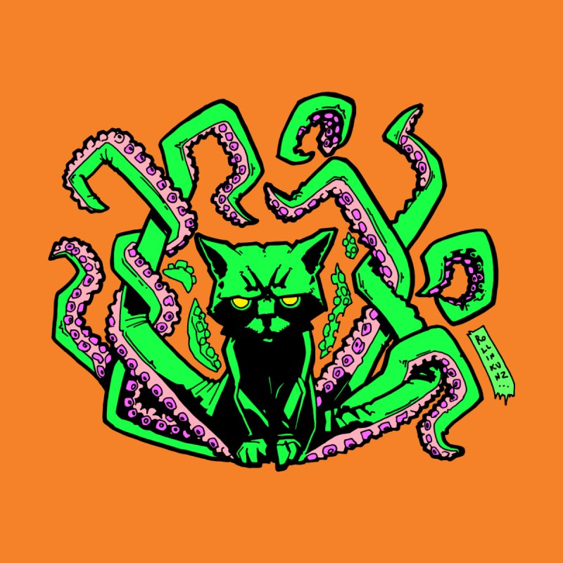 All-New Catthulhu, Now With Orange Home Duvet by