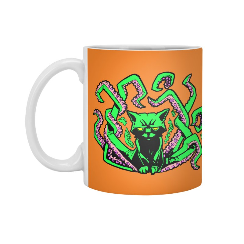 All-New Catthulhu, Now With Orange Accessories Mug by