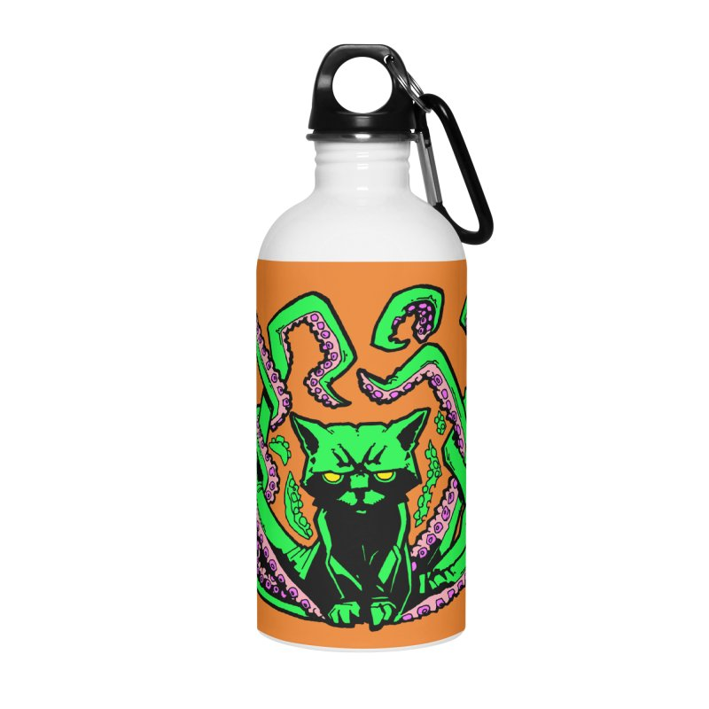 All-New Catthulhu, Now With Orange Accessories Water Bottle by