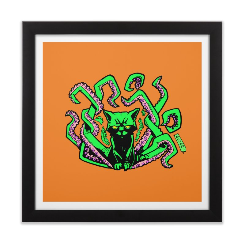 All-New Catthulhu, Now With Orange Home Framed Fine Art Print by