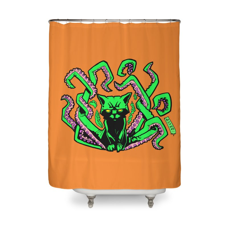 All-New Catthulhu, Now With Orange Home Shower Curtain by
