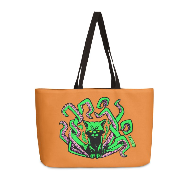 All-New Catthulhu, Now With Orange Accessories Weekender Bag Bag by