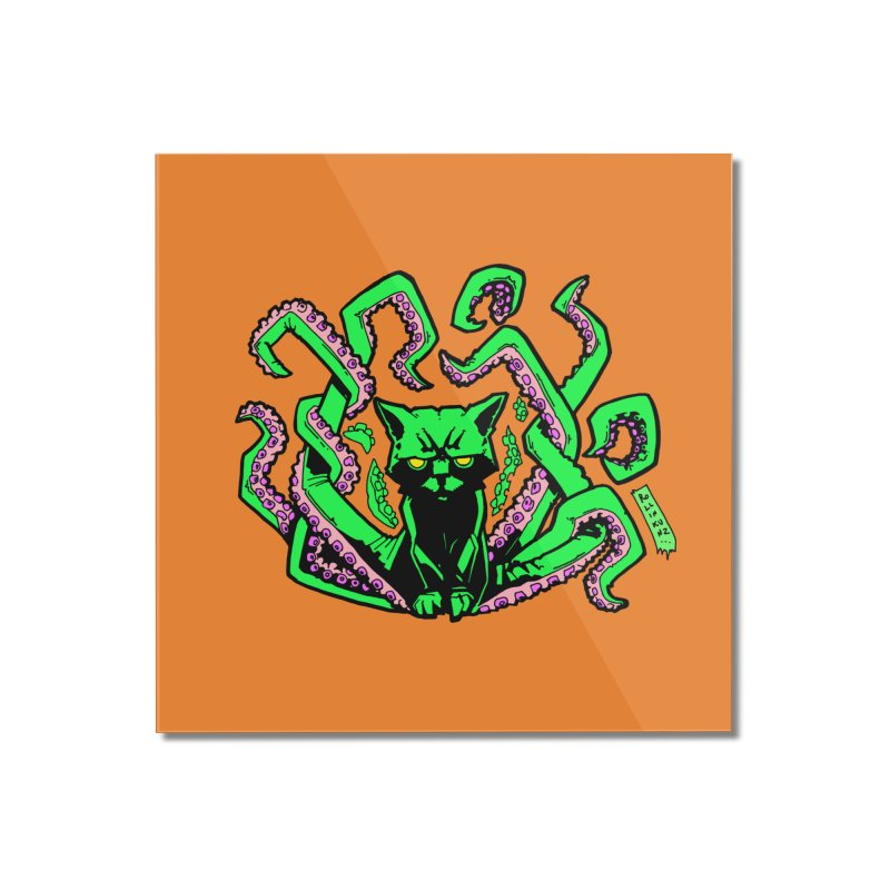 All-New Catthulhu, Now With Orange Home Mounted Acrylic Print by