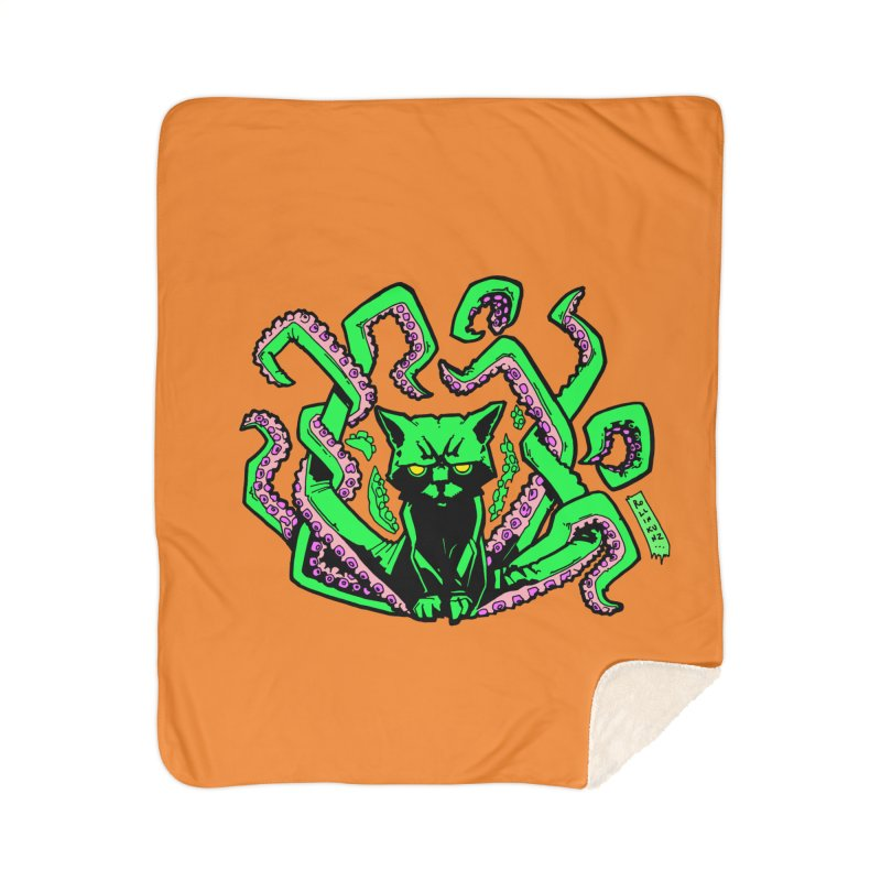 All-New Catthulhu, Now With Orange Home Blanket by