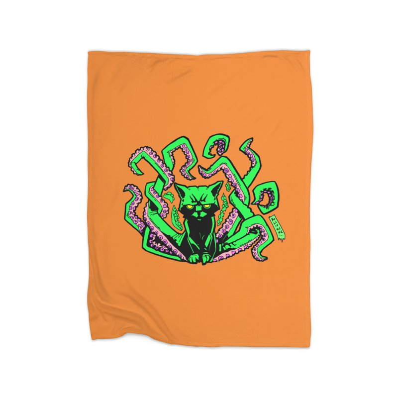 All-New Catthulhu, Now With Orange Home Fleece Blanket Blanket by