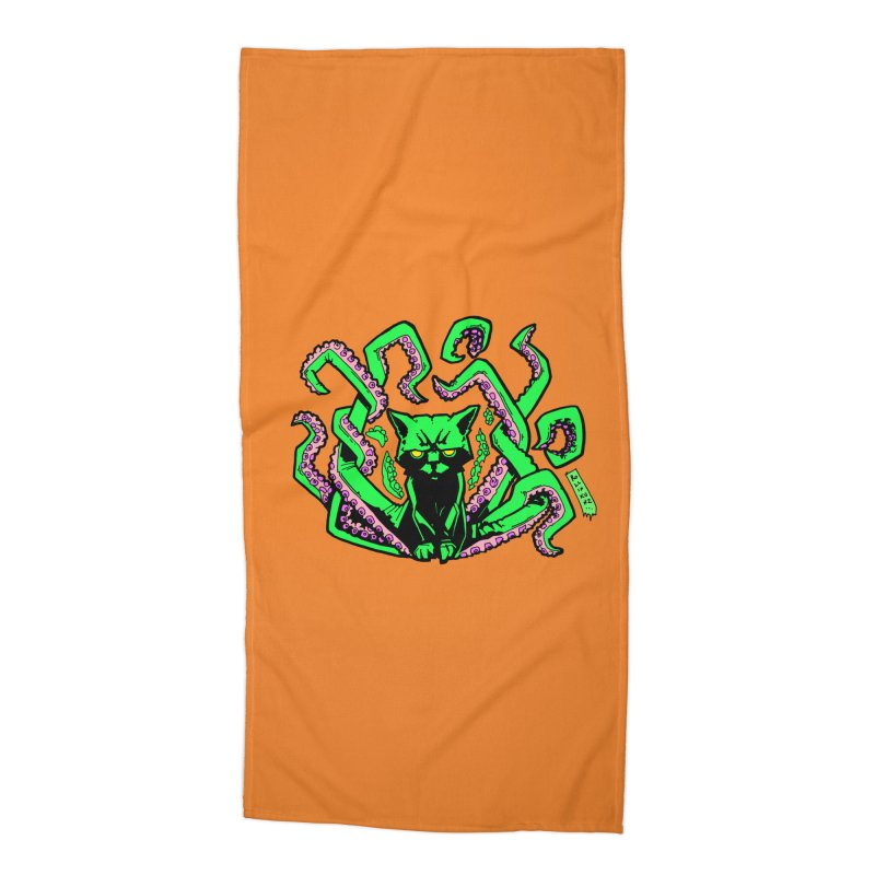All-New Catthulhu, Now With Orange Accessories Beach Towel by
