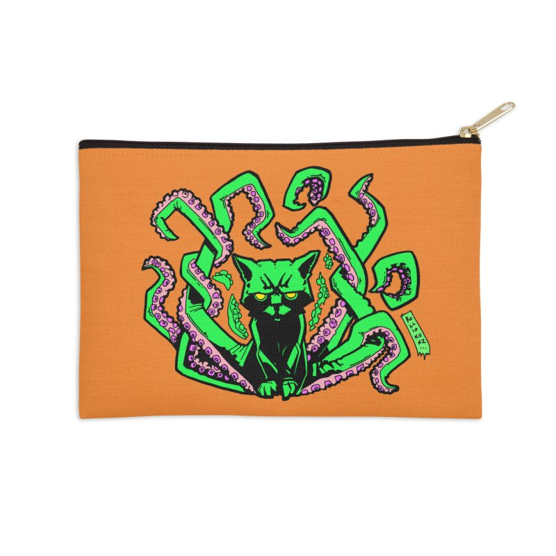 All-New Catthulhu, Now With Orange Accessories Zip Pouch by