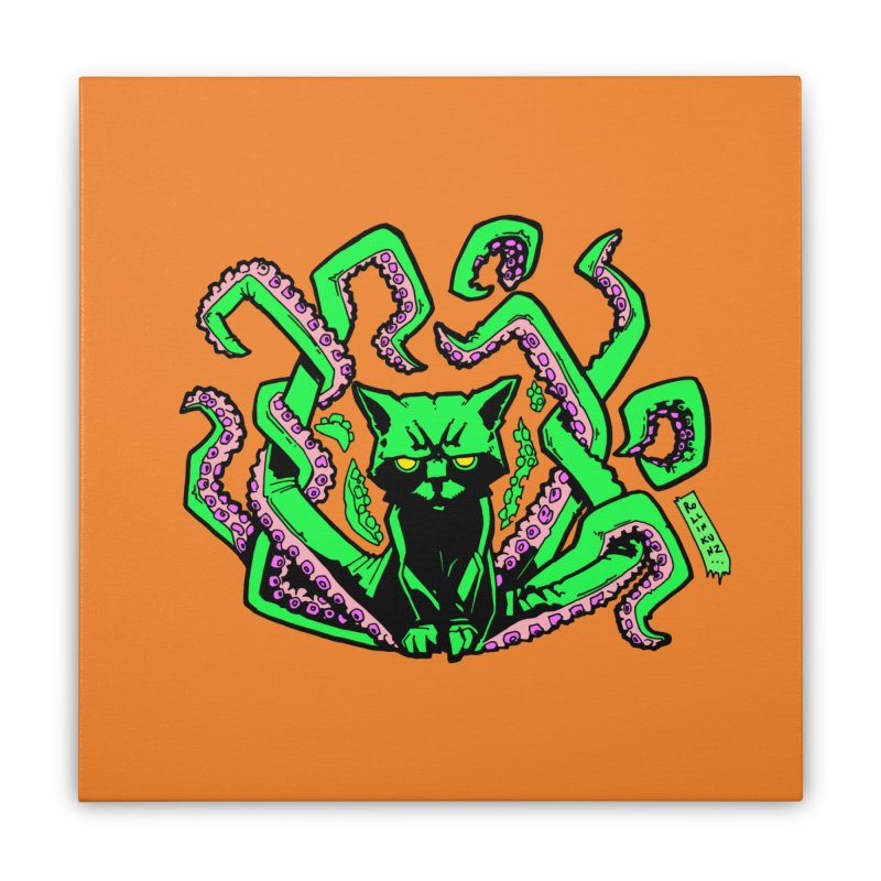 All-New Catthulhu, Now With Orange Home Stretched Canvas by