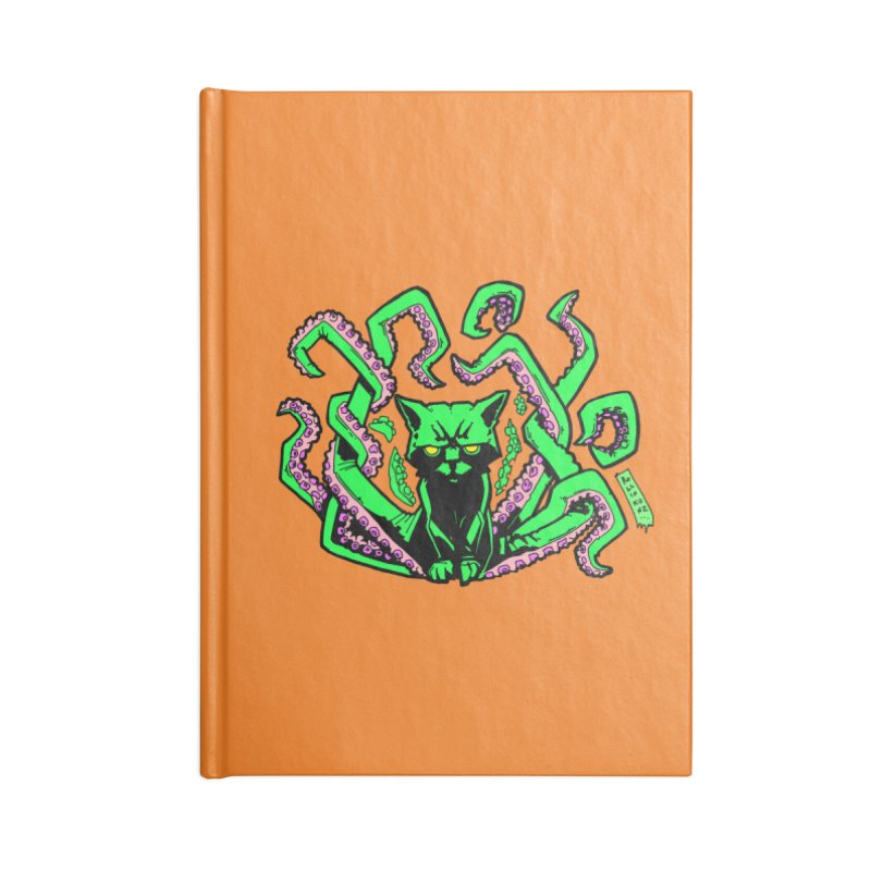 All-New Catthulhu, Now With Orange Accessories Lined Journal Notebook by