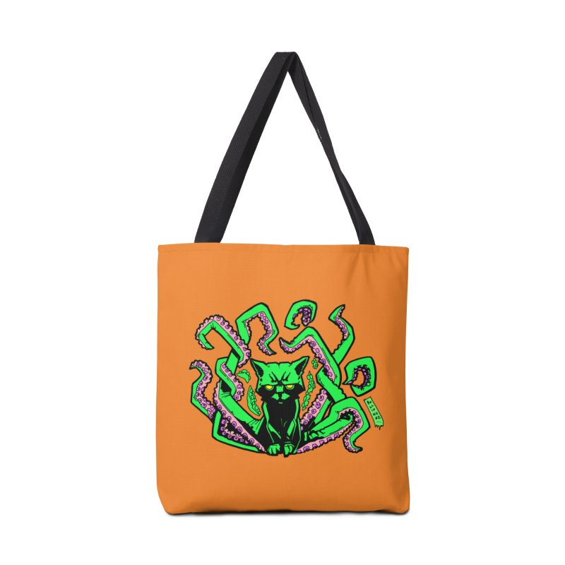 All-New Catthulhu, Now With Orange Accessories Tote Bag Bag by