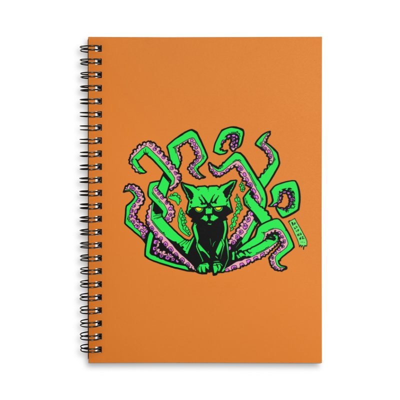 All-New Catthulhu, Now With Orange Accessories Lined Spiral Notebook by