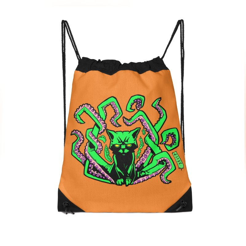All-New Catthulhu, Now With Orange Accessories Drawstring Bag Bag by