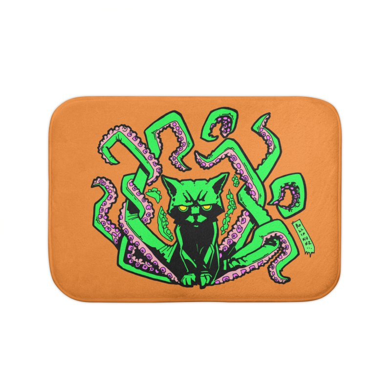 All-New Catthulhu, Now With Orange Home Bath Mat by
