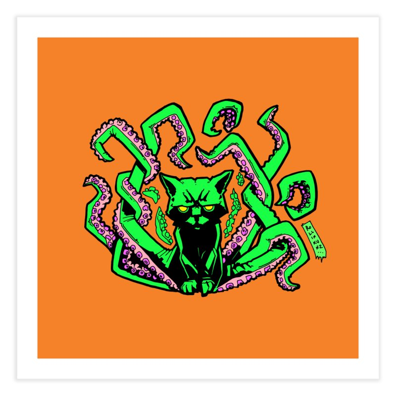 All-New Catthulhu, Now With Orange Home Fine Art Print by