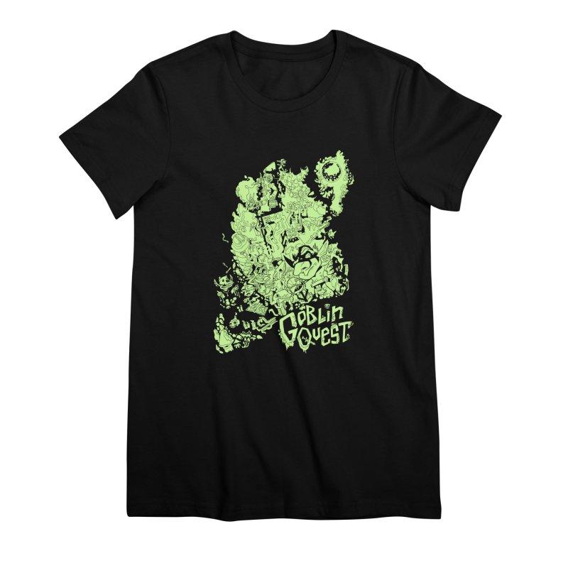 Goblin Quest - Greenie Meanie Women's Premium T-Shirt by