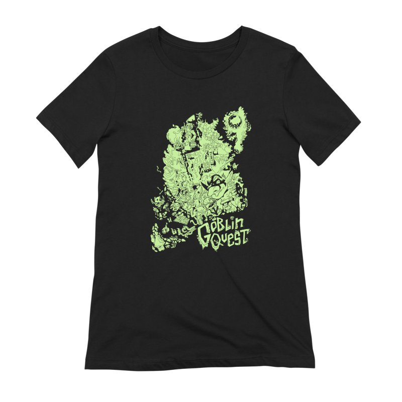 Goblin Quest - Greenie Meanie Women's Extra Soft T-Shirt by