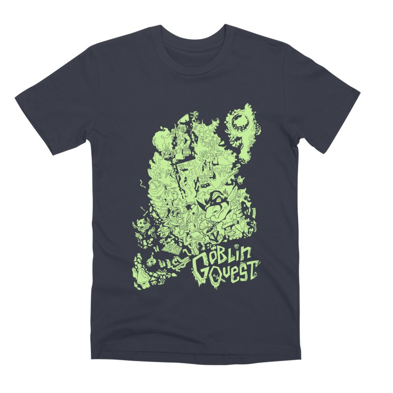 Goblin Quest - Greenie Meanie Men's Premium T-Shirt by