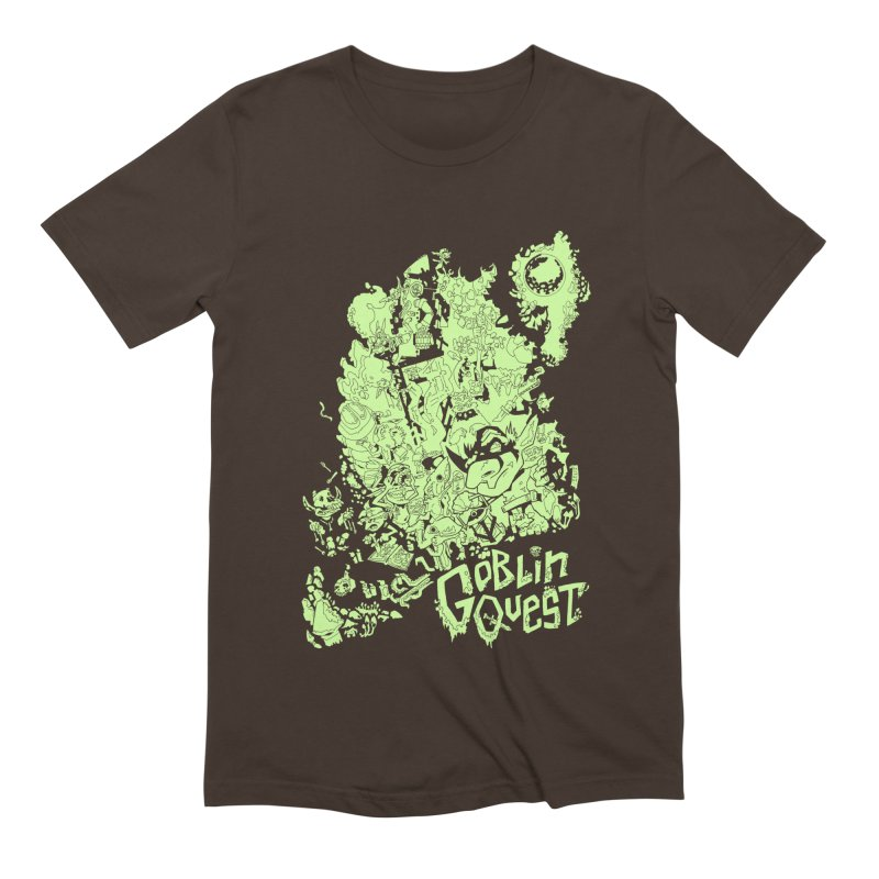 Goblin Quest - Greenie Meanie Men's Extra Soft T-Shirt by
