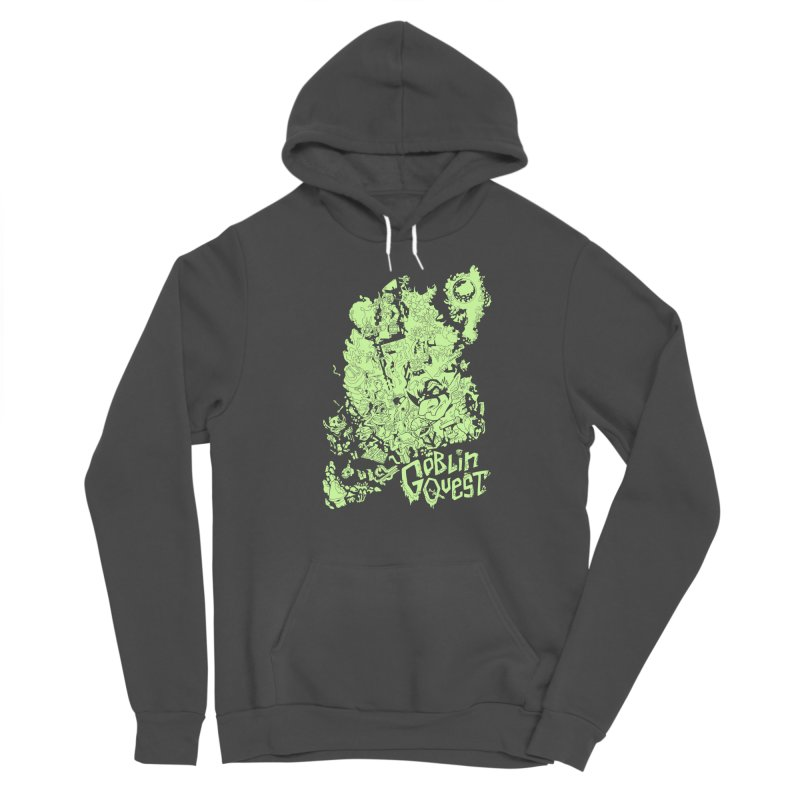 Goblin Quest - Greenie Meanie Men's Sponge Fleece Pullover Hoody by