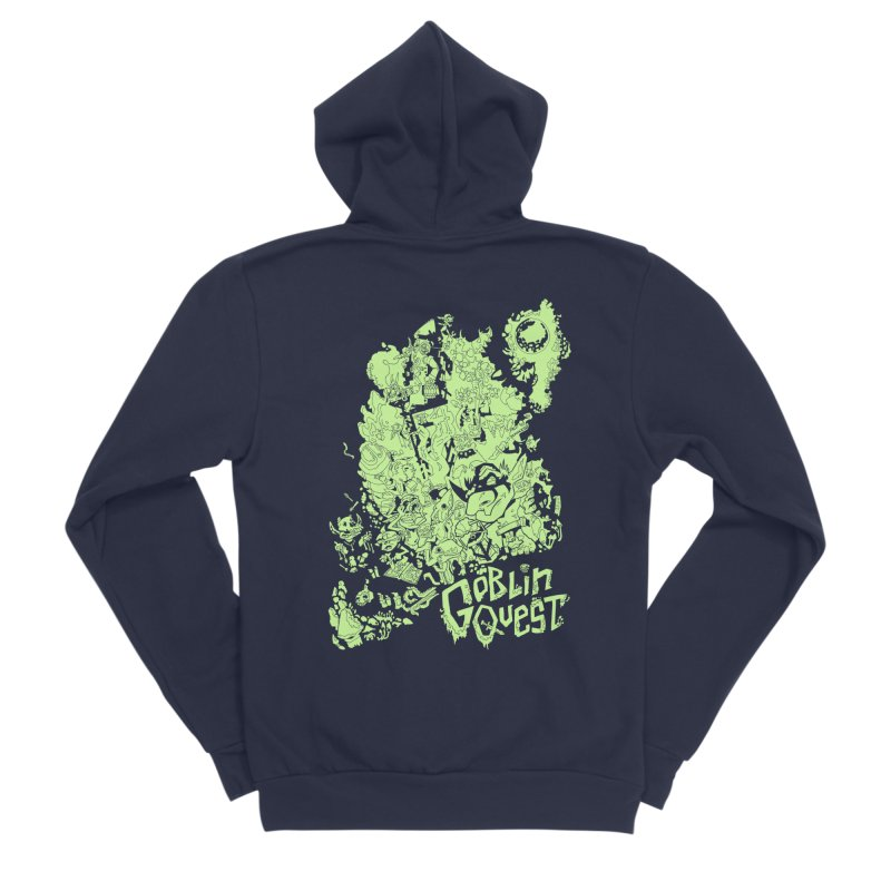 Goblin Quest - Greenie Meanie Men's Sponge Fleece Zip-Up Hoody by