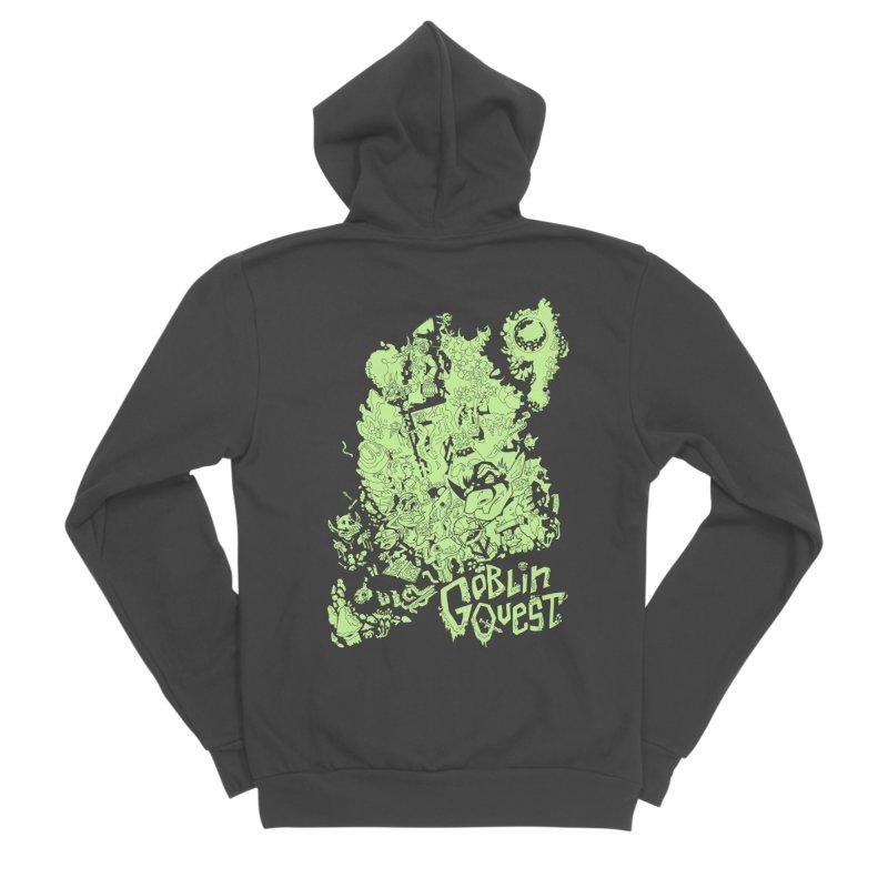 Goblin Quest - Greenie Meanie Men's Sponge Fleece Zip-Up Hoody by