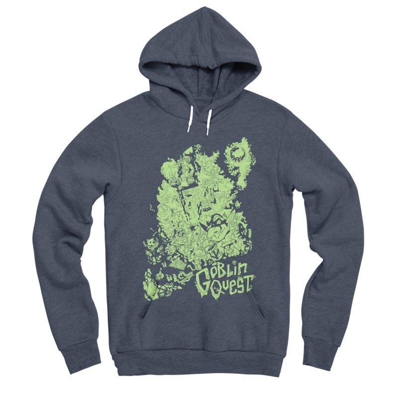 Goblin Quest - Greenie Meanie Men's Sponge Fleece Pullover Hoody by