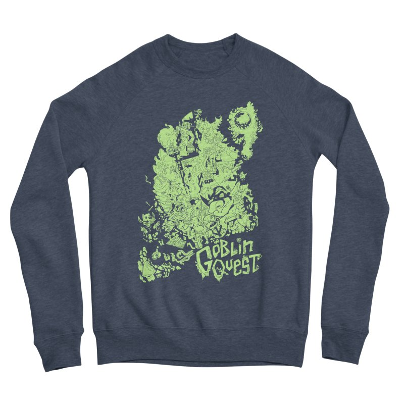 Goblin Quest - Greenie Meanie Men's Sponge Fleece Sweatshirt by