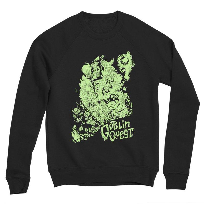 Goblin Quest - Greenie Meanie Men's Sponge Fleece Sweatshirt by