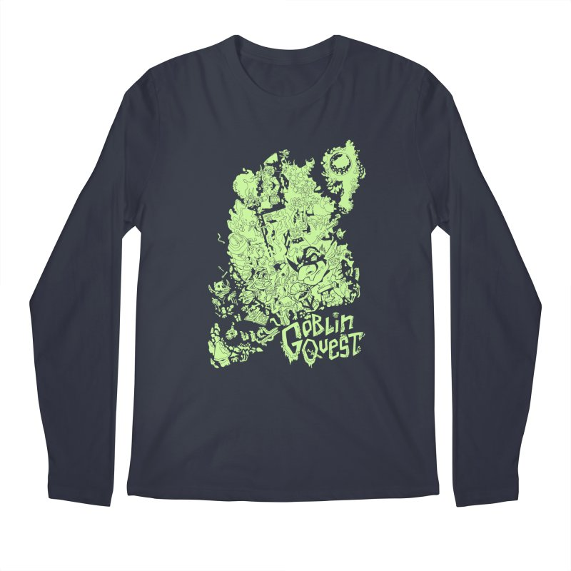 Goblin Quest - Greenie Meanie Men's Longsleeve T-Shirt by