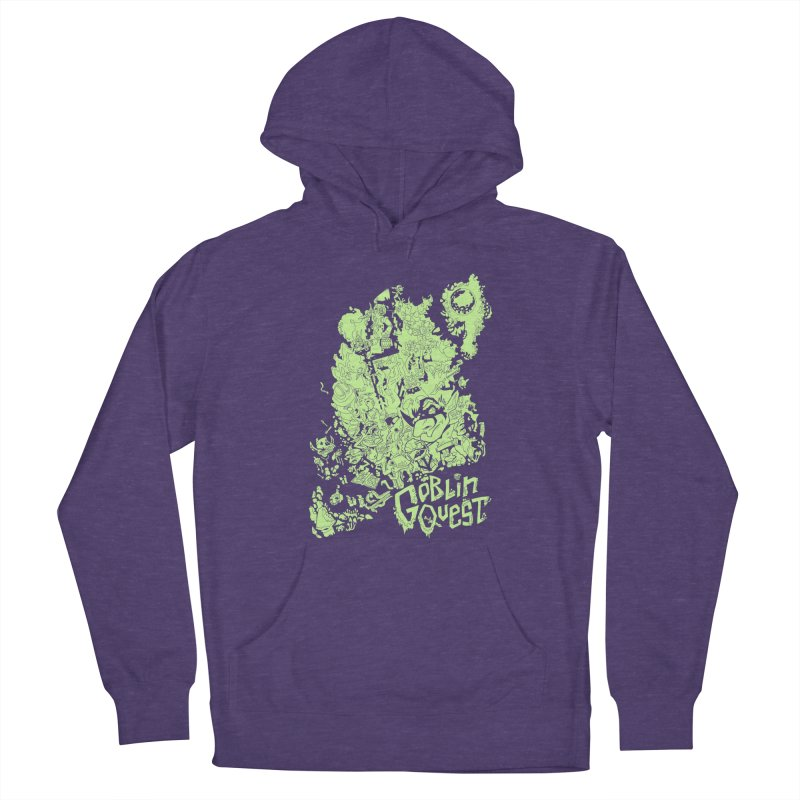 Goblin Quest - Greenie Meanie Women's French Terry Pullover Hoody by