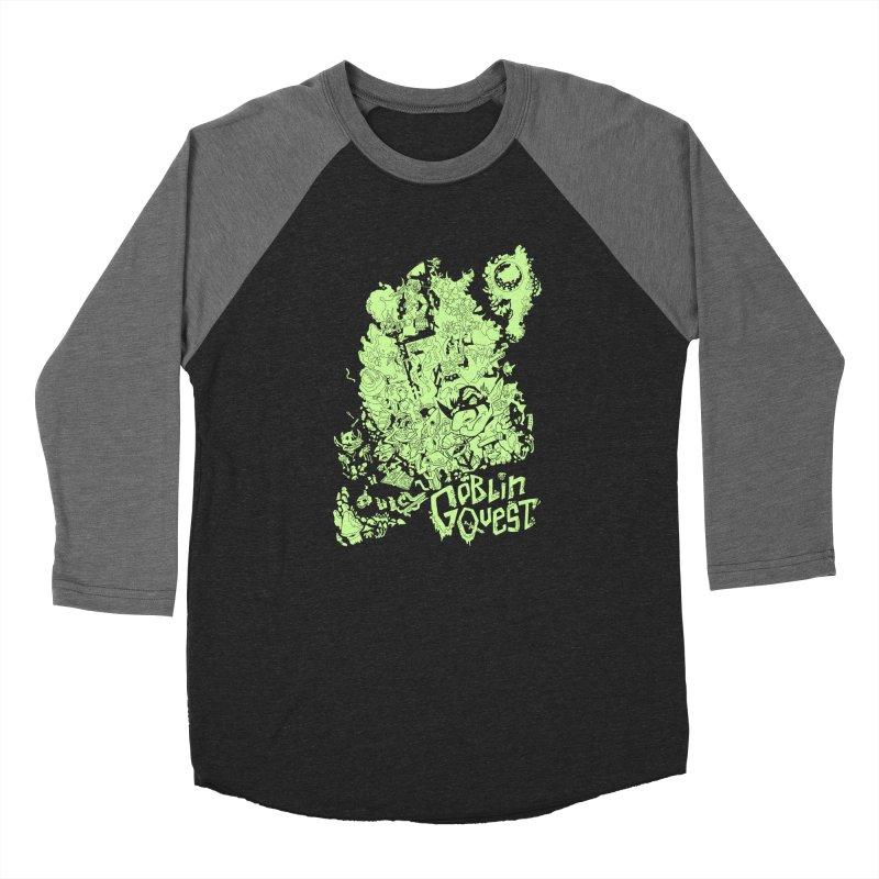Goblin Quest - Greenie Meanie Men's Baseball Triblend Longsleeve T-Shirt by