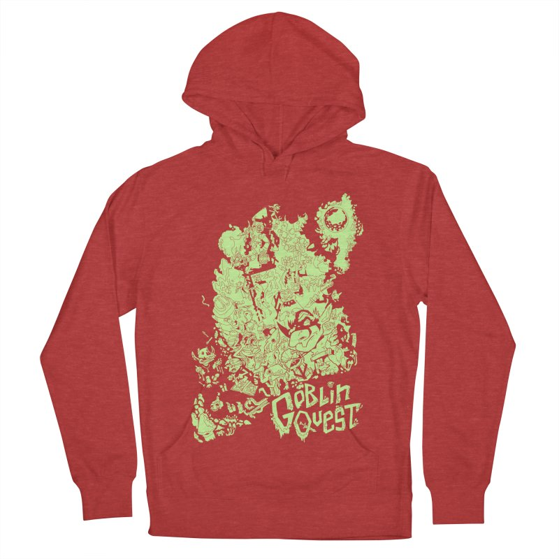 Goblin Quest - Greenie Meanie Men's French Terry Pullover Hoody by
