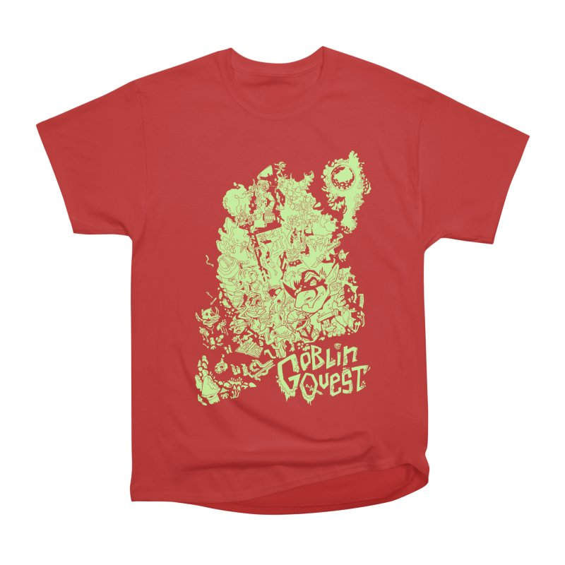 Goblin Quest - Greenie Meanie Women's Heavyweight Unisex T-Shirt by
