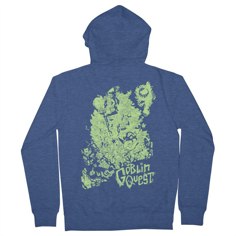 Goblin Quest - Greenie Meanie Women's French Terry Zip-Up Hoody by