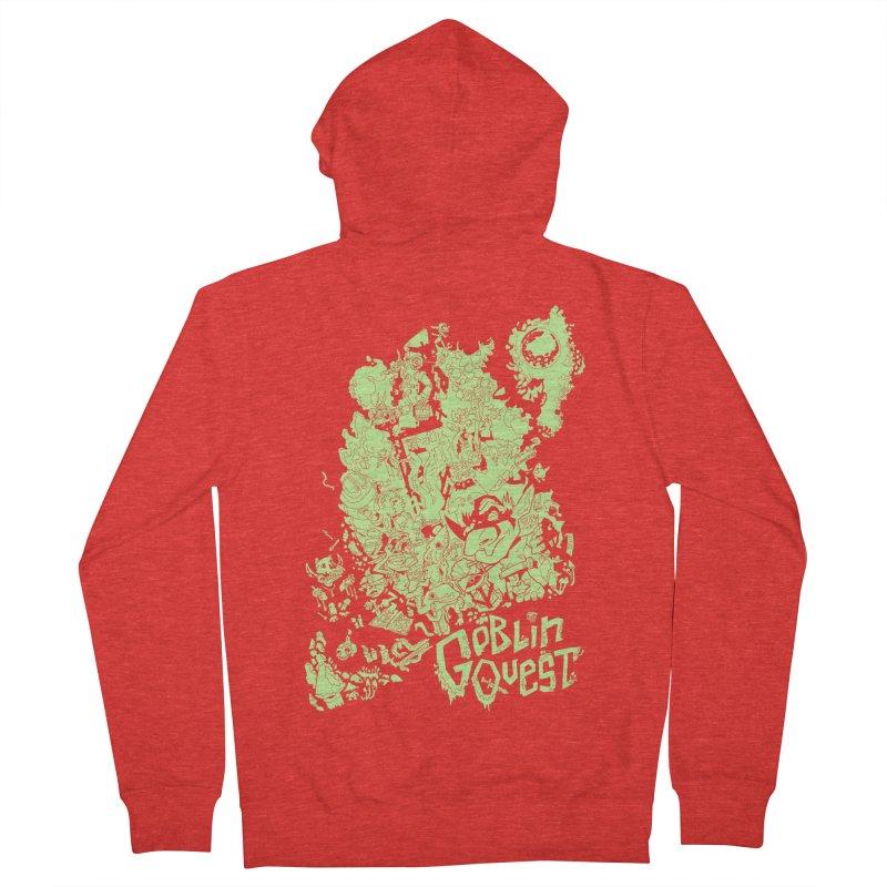 Goblin Quest - Greenie Meanie Men's Zip-Up Hoody by