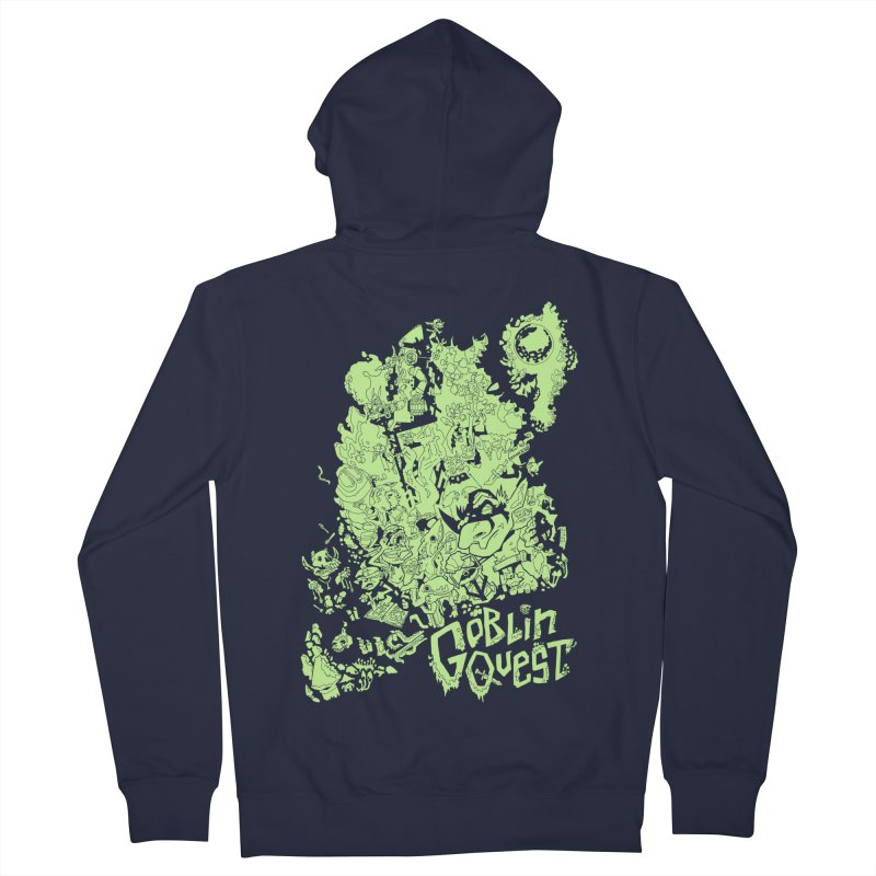 Goblin Quest - Greenie Meanie Men's Zip-Up Hoody by