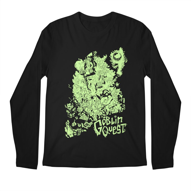 Goblin Quest - Greenie Meanie Men's Regular Longsleeve T-Shirt by