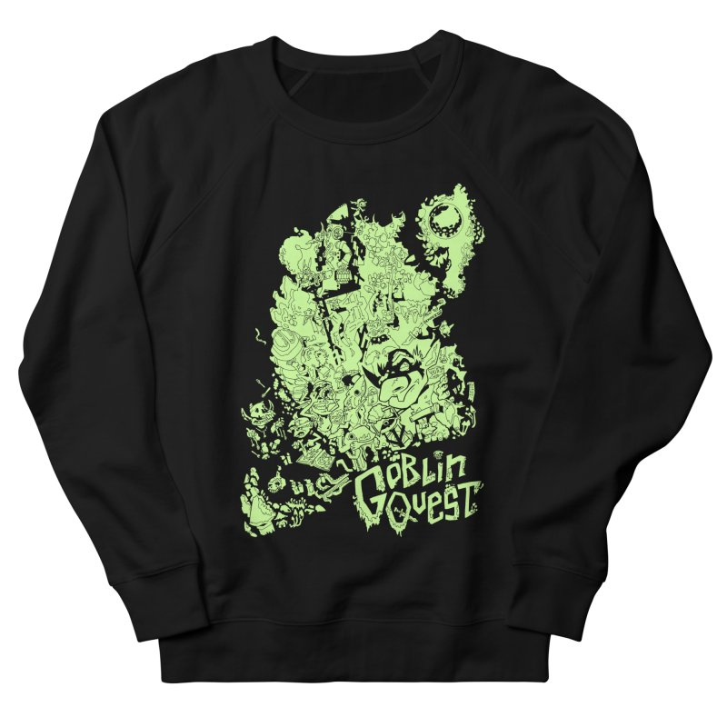 Goblin Quest - Greenie Meanie Men's French Terry Sweatshirt by