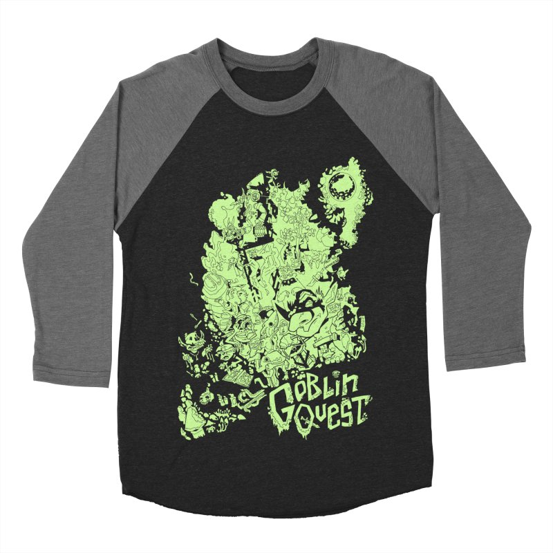Goblin Quest - Greenie Meanie Men's Baseball Triblend Longsleeve T-Shirt by