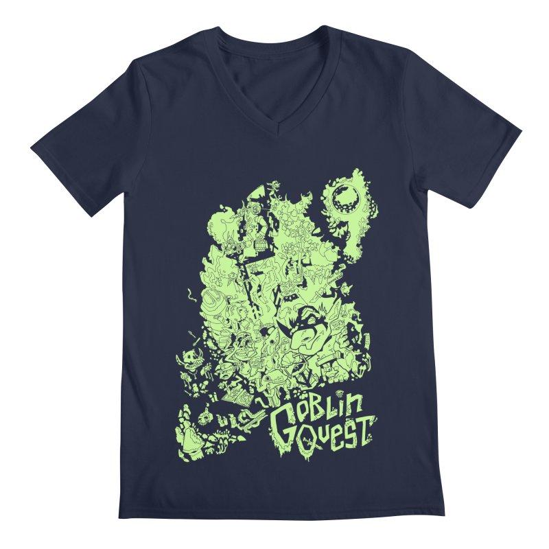 Goblin Quest - Greenie Meanie Men's V-Neck by