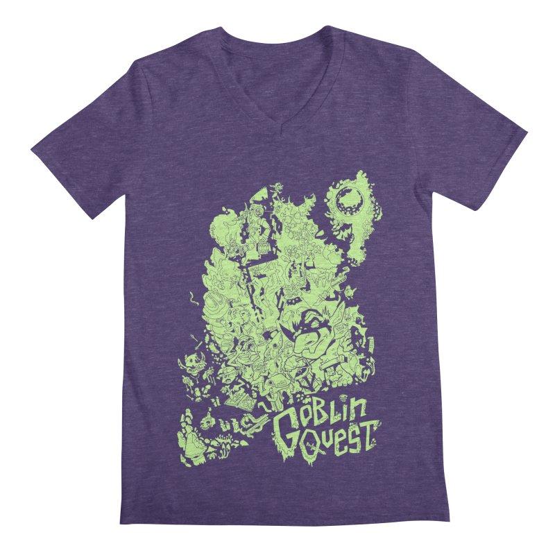 Goblin Quest - Greenie Meanie Men's Regular V-Neck by