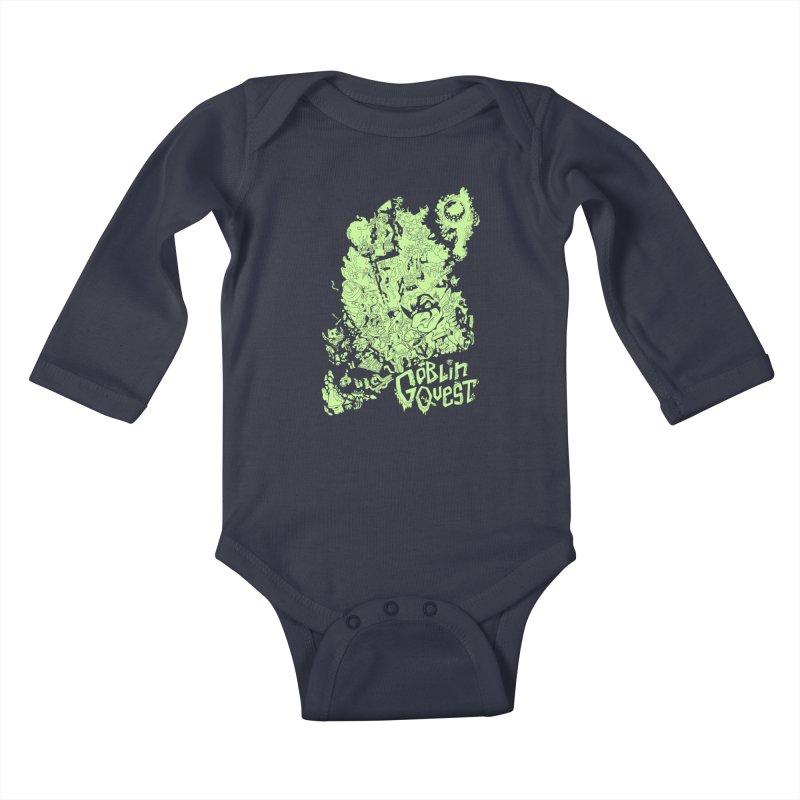 Goblin Quest - Greenie Meanie Kids Baby Longsleeve Bodysuit by