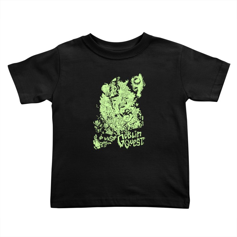 Goblin Quest - Greenie Meanie Kids Toddler T-Shirt by