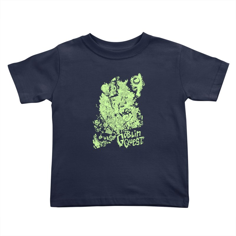 Goblin Quest - Greenie Meanie Kids Toddler T-Shirt by