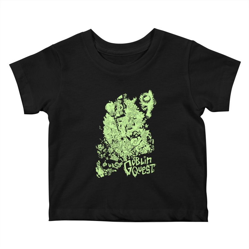 Goblin Quest - Greenie Meanie Kids Baby T-Shirt by