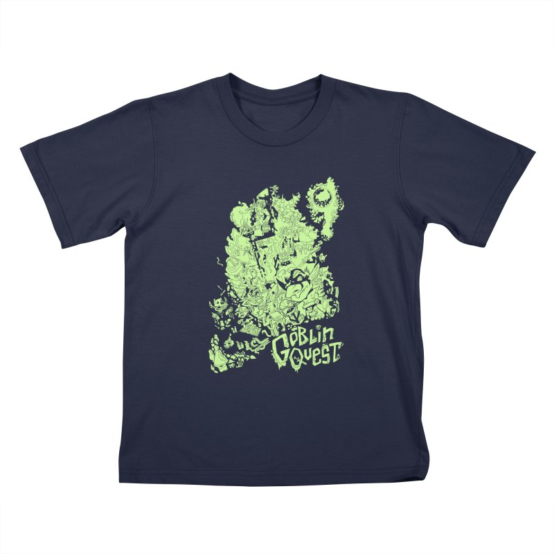Goblin Quest - Greenie Meanie Kids T-Shirt by